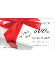 Presentkort - I love you