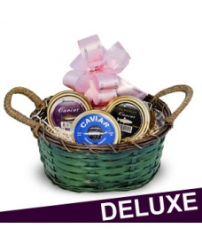Luxurious Gift Basket - 50g Russian Caviar