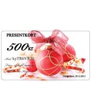 Presentkort - Julkula